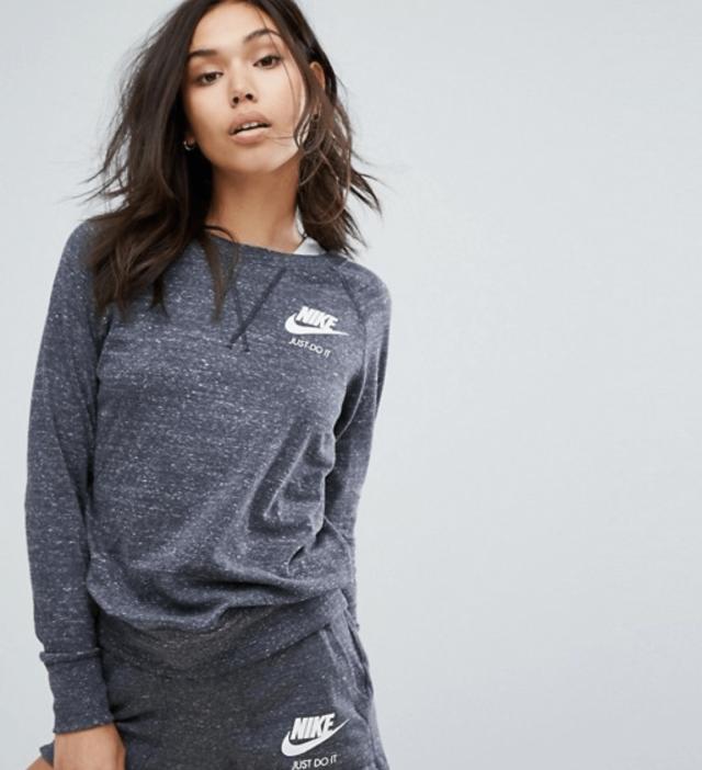 Nike Grey Vintage Track Top